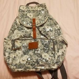 PINK VS Sequin Floral backpack